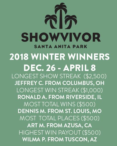 Winners for Winter 2018 Showvivor